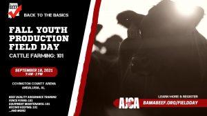 Alabama Junior Cattlemen's Association i Fall Field Day @ Covington County Arena